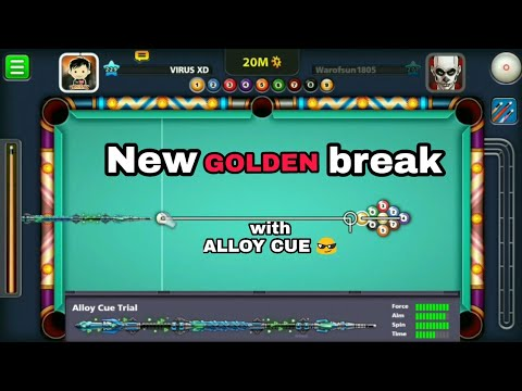9 ball pool new Golden break with Alloy cue.