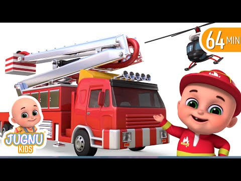 Fire brigade monster truck - Kids toys unboxing - Surprise Eggs Toys from Jugnu Kids