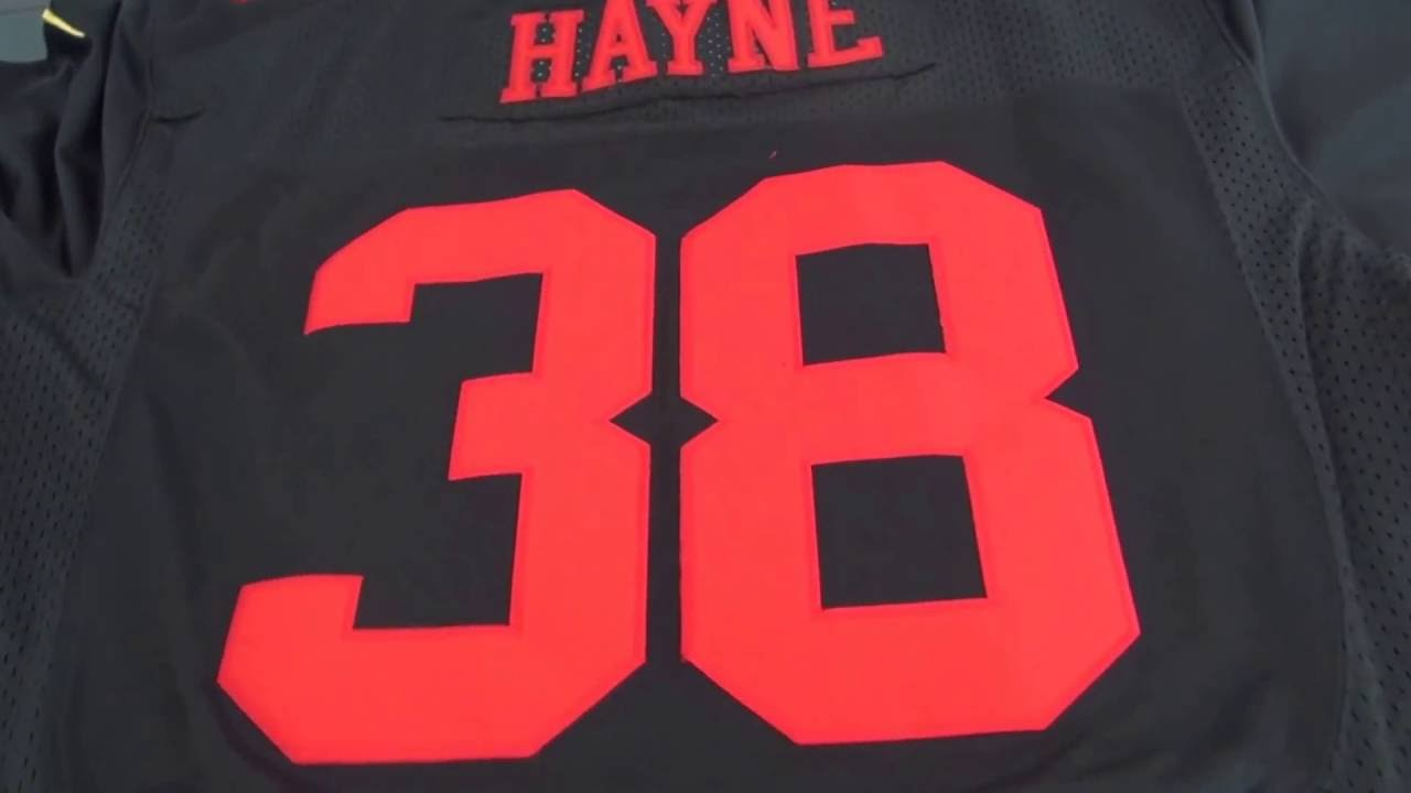 newest 65f32 3b0c5 Size 52 and 44 comparison for #38 Hayne and #hyde 49ers Jerseys / wholesale  NFL jerseys