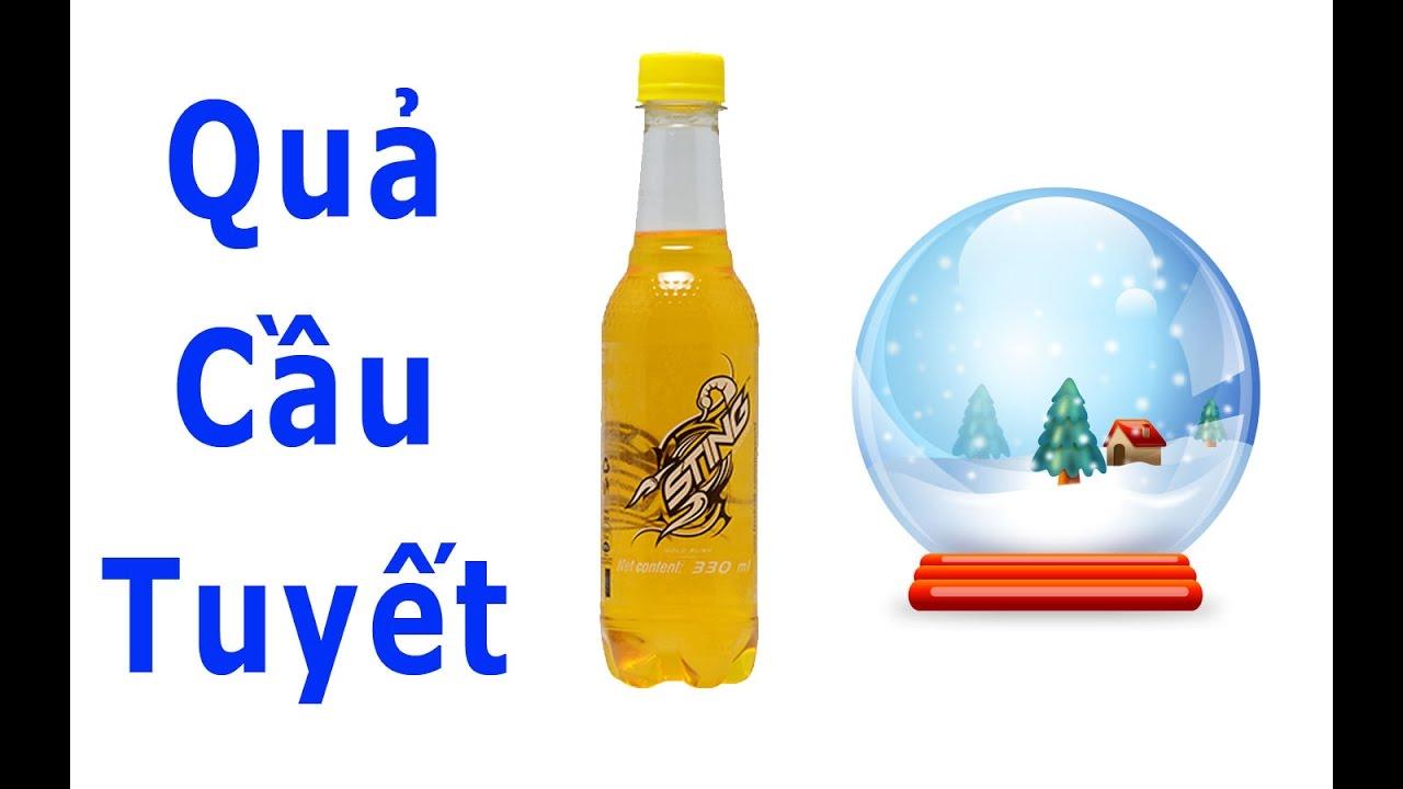 Tự làm quả cầu tuyết đơn giản từ chai sting – How to make crystal ball 123 Dễ TV