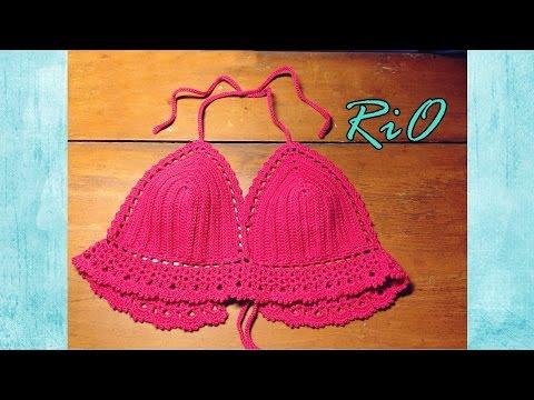 [Crochet] Hướng dẫn móc áo Bikini (kiểu 1)