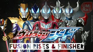 ULTRAMAN GEED All Fusion Rises and Finisher henshinpedia Eps 02