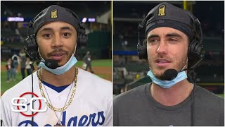 Mookie Betts, Cody Bellinger recap Dodgers' 2020 World Series win | SportsCenter