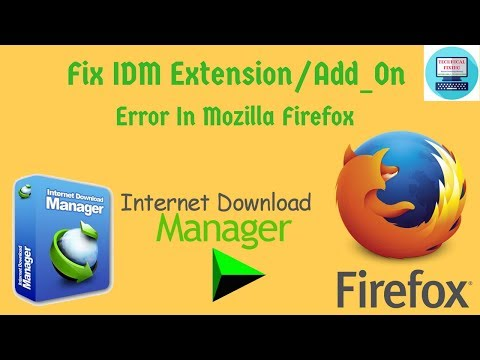 How To Add IDM Add-On In Mozilla Firefox Manually Solve Extension Error IDM