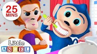Bébé Singe ne veut pas brosser ses dents! Cette comptine éducative le fera probablement changer d'idée. Cette chanson pour enfants entraînante aborde les ...
