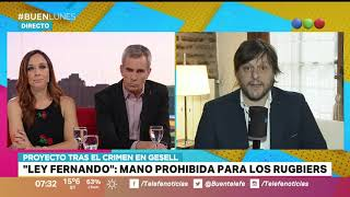 """CRIMEN DE FERNANDO: proyecto de ley para extender la """"mano prohibida"""" a los rugbiers - Buen Telefe"""