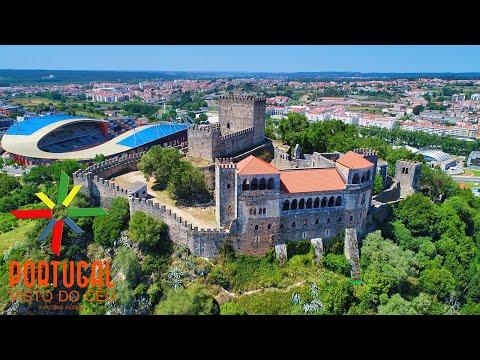 Leiria Castle aerial view - Castelo de Leiria - 4K Ultra HD