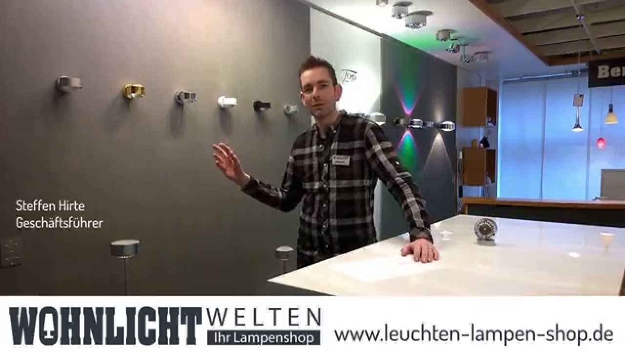 top light puk leuchten bei wohnlichtwelten youtube. Black Bedroom Furniture Sets. Home Design Ideas