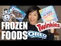 FROZEN Stuffed FOODS Taste Test | Deep-Fried TWINKIES & Oreo Churros