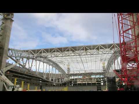Time Lapse - Cardinals Stadium Roof Lift (Superlift)