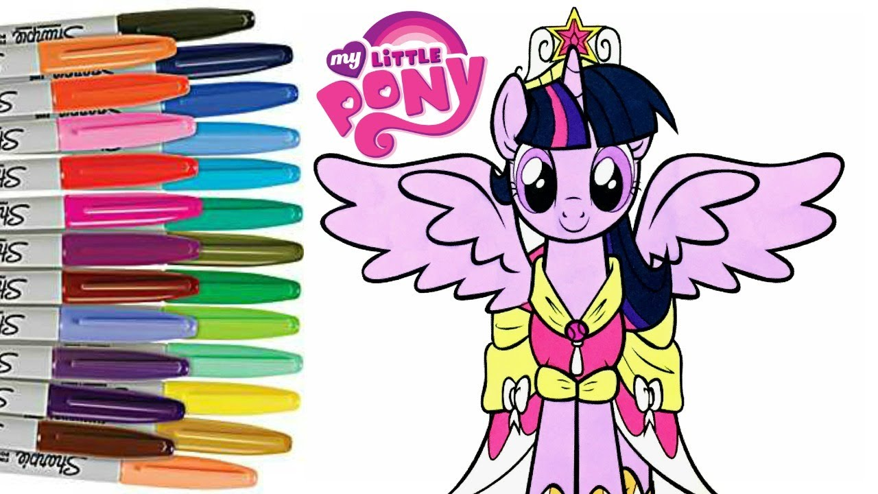 my little pony coloring book page twilight sparkle coronation