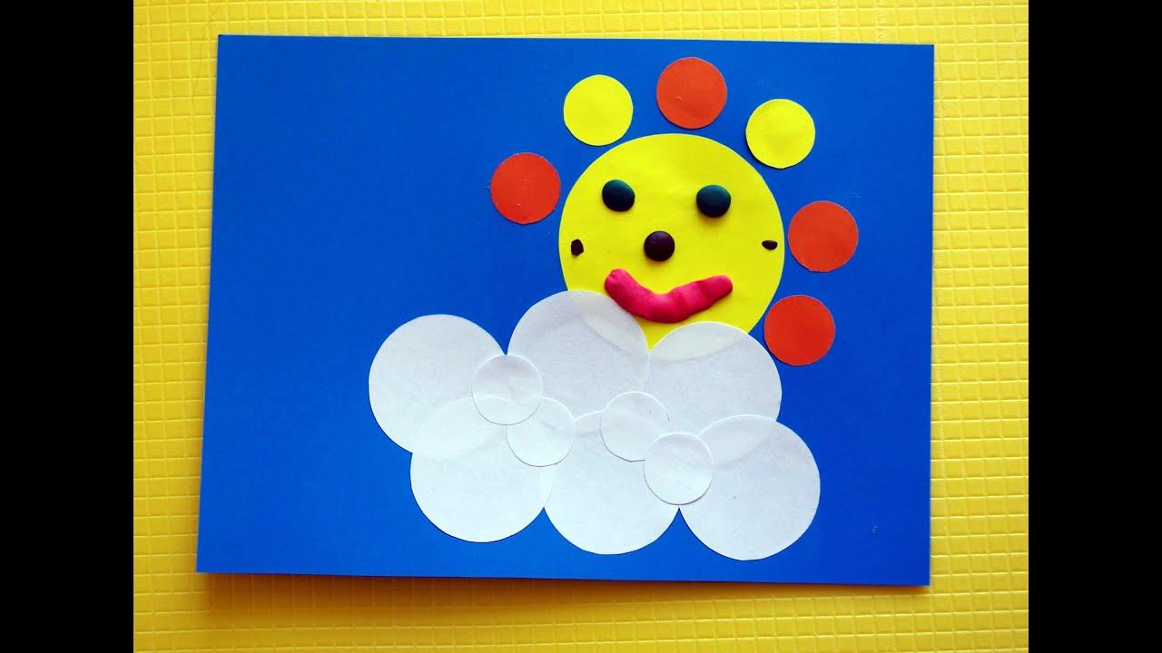 Аппликации из цветной бумаги для ребенка 3 лет фото