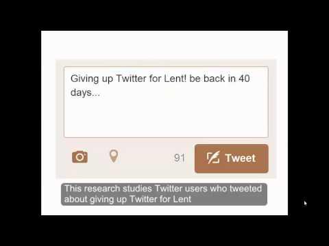 Giving up Twitter for Lent