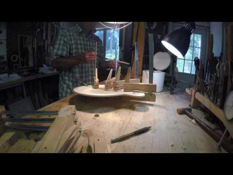 Tonebar gluing with hot hide glue.  Clark Mandolins