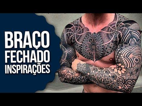 Tatuagens Braço Fechado Inspirações Blackwork Para Fechar O