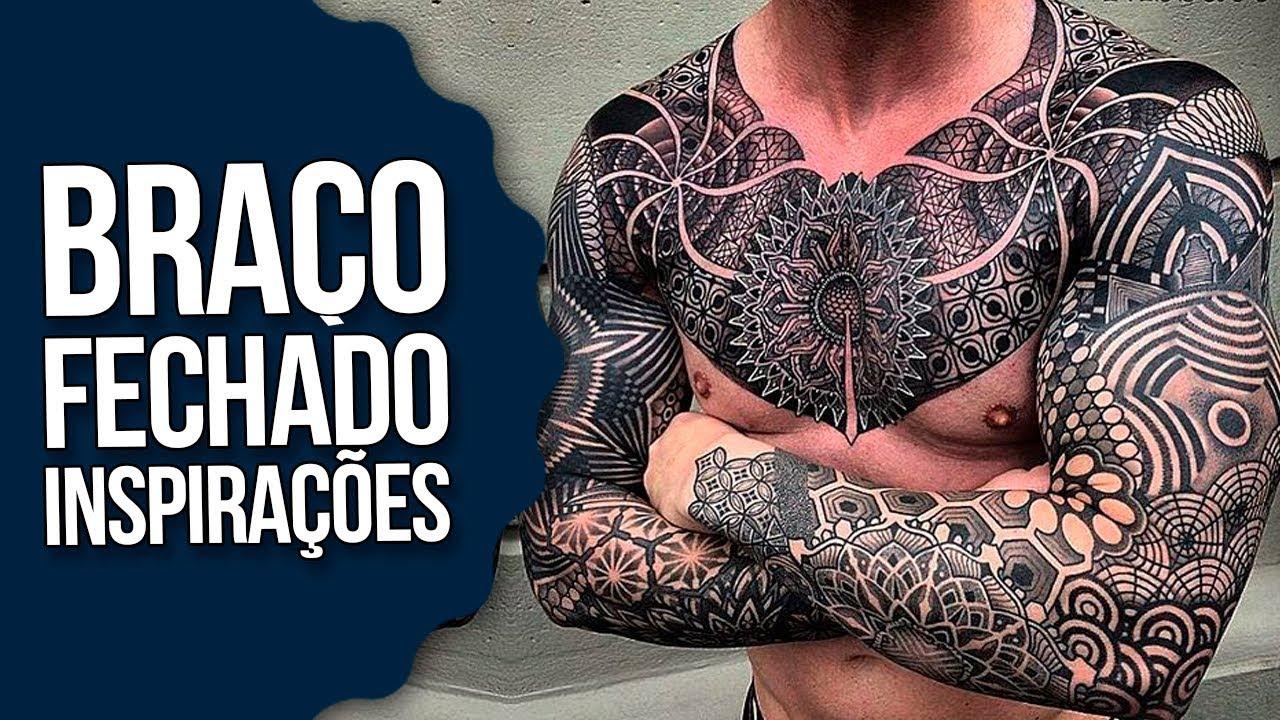 Como Escolher Tatuagem Homem tatuagens braÇo fechado: inspirações blackwork para fechar o braço -  #tattoomm