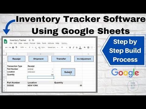 Inventory Tracker Software Using Google Sheets