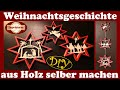Weihnachts-Fenster-Deko selber machen | scroll saw project christmas story of wood