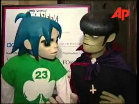 2D and Murdoc at Webby Awards 2006
