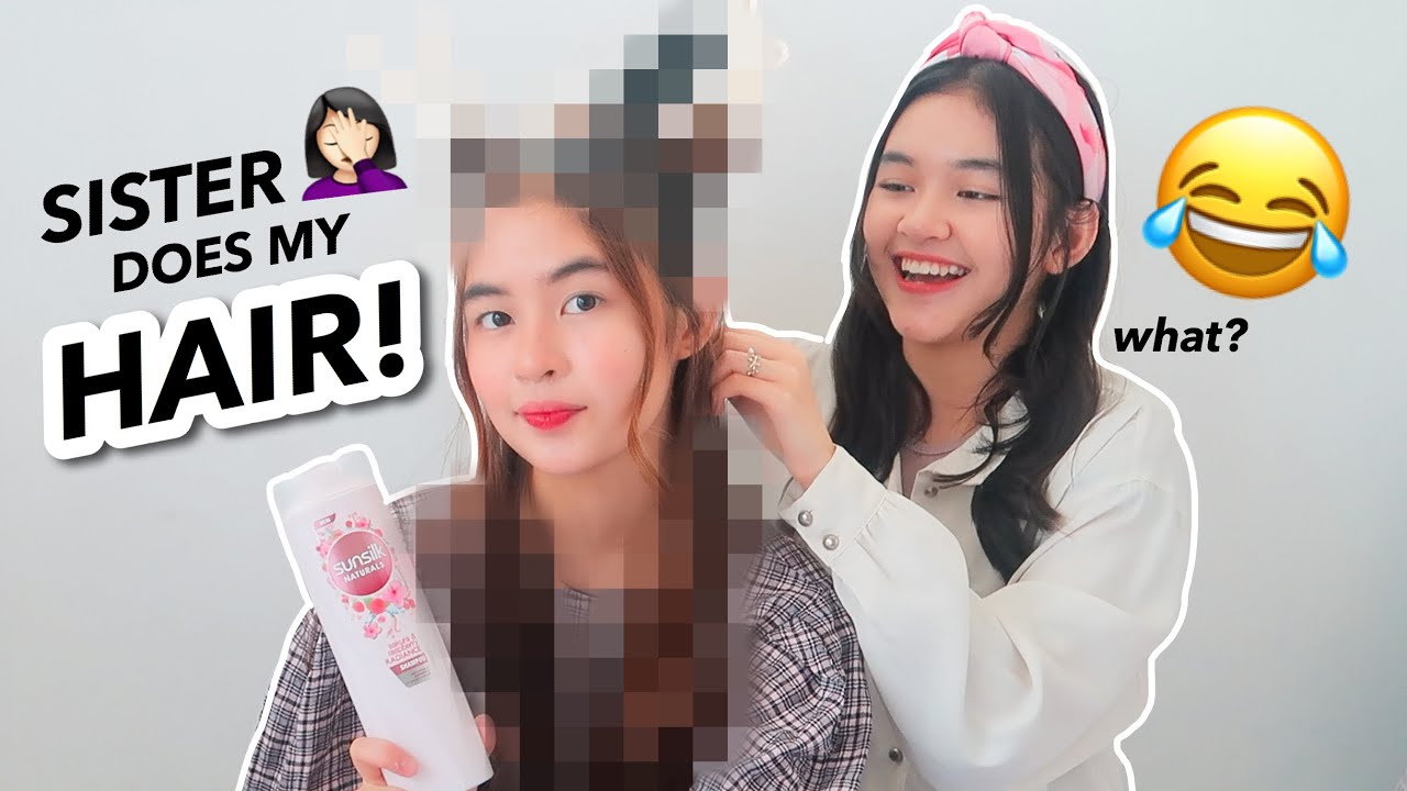 SISTER DOES MY HAIR CHALLENGE!