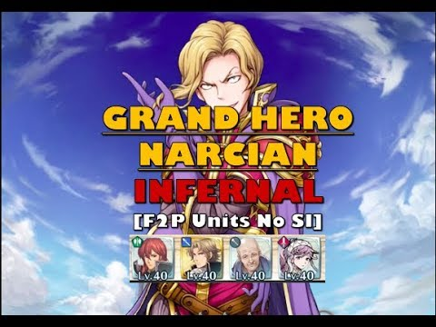 Fire Emblem Heroes - Narcian Infernal - [F2P units no SI but Camus is 5*]
