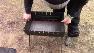 Обзор мангала на 10 шампуров. Тест метала пройден.