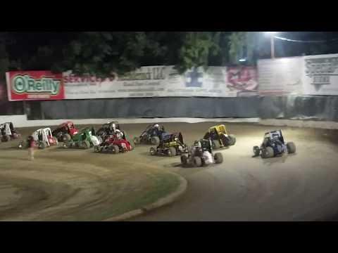 Tyler Thompson Ford Focus Midget Deming Speedway 8-11-17