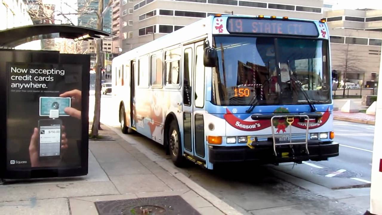 MTA Maryland Holiday Bus (NABI 416 #9919) on the route 19 - YouTube