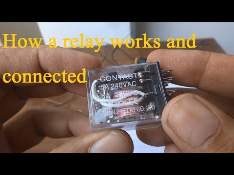 Relay explained, How to use a relay. Relay automatic switching by 220V for 12V fan thumbnail