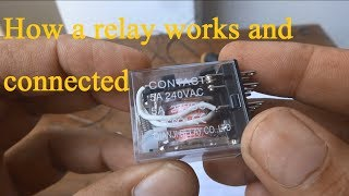 Relay explained, How to use a relay. Relay automatic switching by 220V for 12V fan