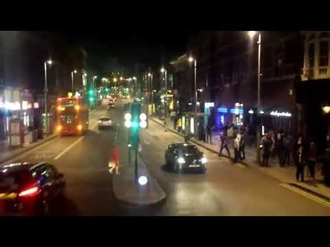 London Bus 345  at night from Clapham Common  #fromclaphamjunction