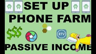 How to Set Up a Phone Farm. Make Passive Income with your Phones and PC