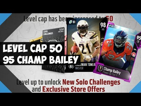 HOW TO GET 98 OVERALL LEVEL MASTER LT ! 95 CHAMP BAILEY  - MADDEN 18 ULTIMATE TEAM MUT 18