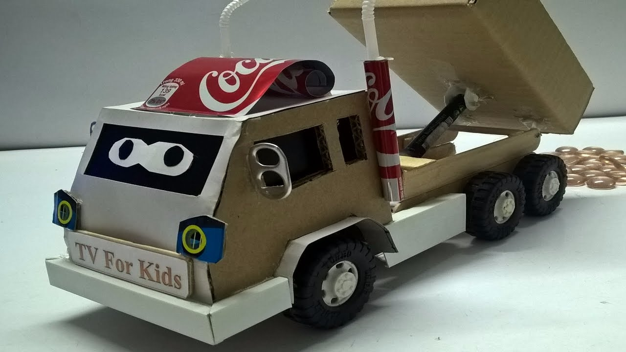 car toys diy toy trucks how to make a truck at home for kids