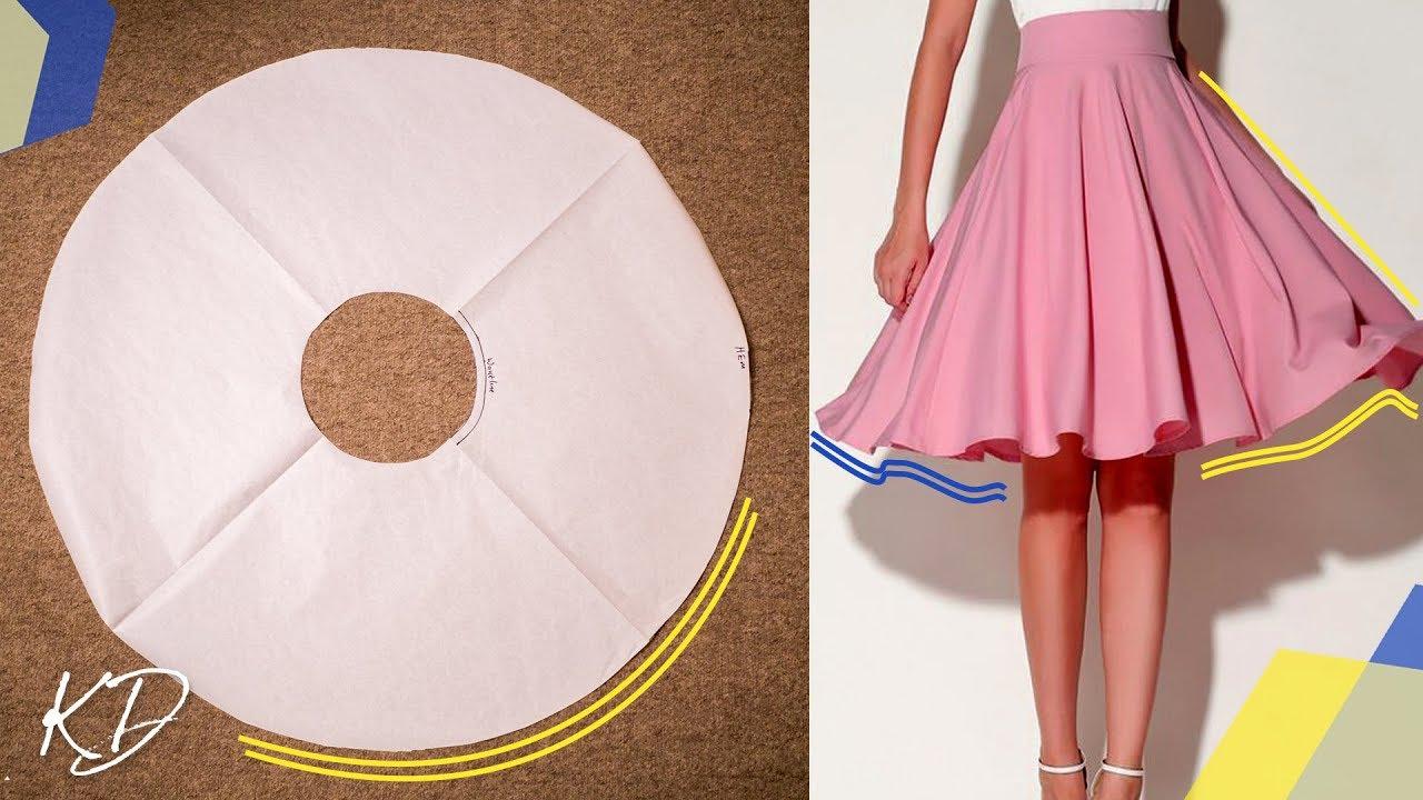How To Make Full Circle Skirt Pattern Kim Dave Youtube