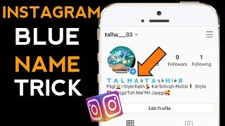 How to make your instagram name blue and underlined 2019