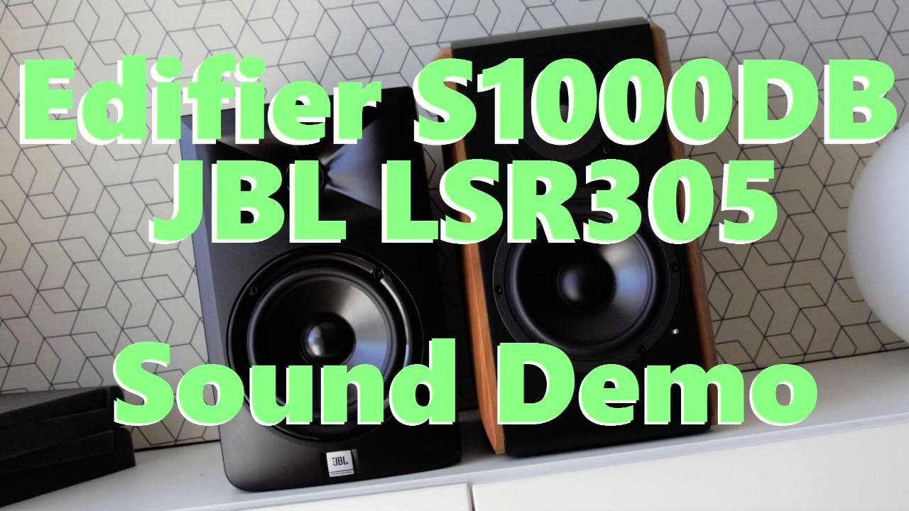 Edifier S1000DB vs JBL LSR305  ||  Sound Demo w/Bass Test