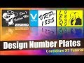 Coreldraw X7 Tutorial -- How to Design Number Plates