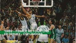 Elan Béarnais Orthez - CSP Limoges finale retour 1989