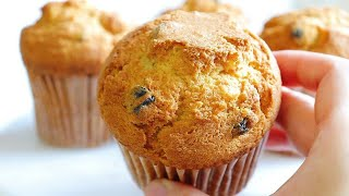How to make delicious and moist blueberry muffins / easy recipe