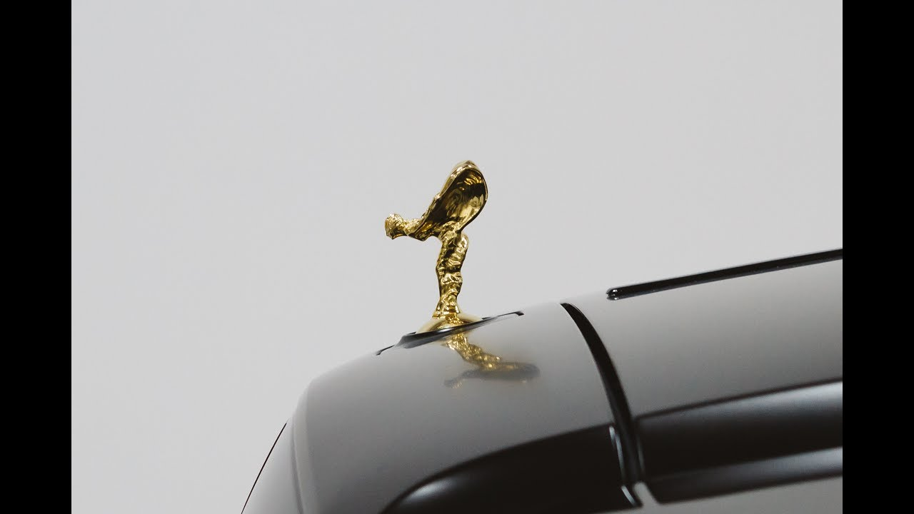 wrapped rolls royce ghost with 18k gold plated spirit of. Black Bedroom Furniture Sets. Home Design Ideas
