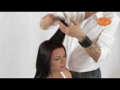 Женская стрижка на длинных волосах