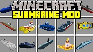 Minecraft SUBMARINE MOD! | EXPLORE UNDERWATER OCEANS TO FIND TREASURE! | Modded Mini-Game