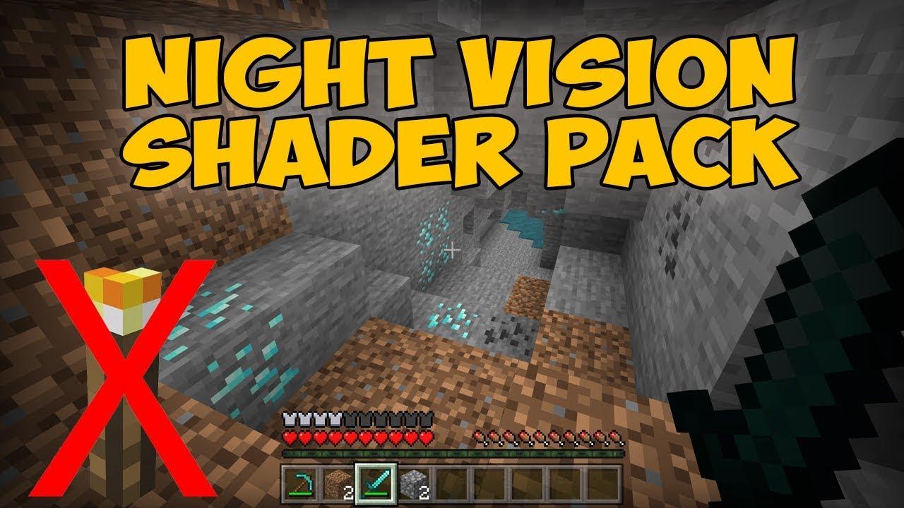 (Overpowered SHADER) Minecraft PE / Bedrock 1 11 NIGHT Vision Shaders