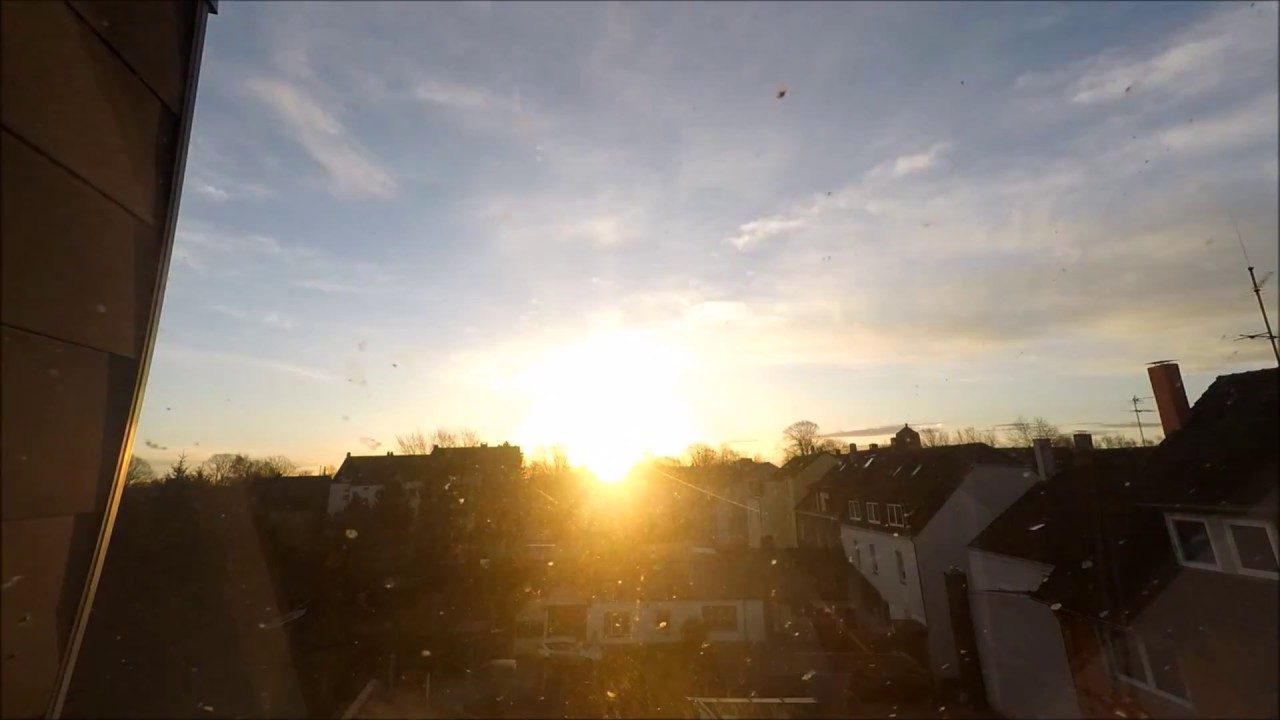 timelapse - sunrise / sonnenaufgang at home , the attic window ! vom