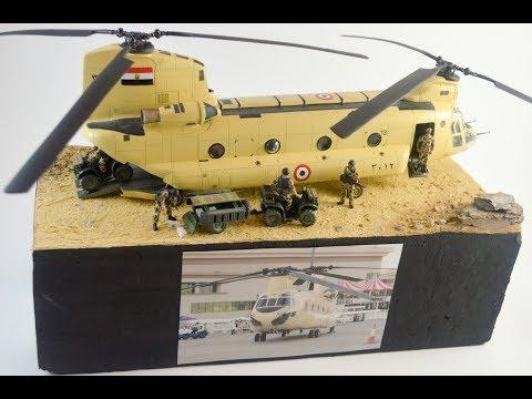 1/48 Diorama Chinook CH-47C Egypt - Italeri
