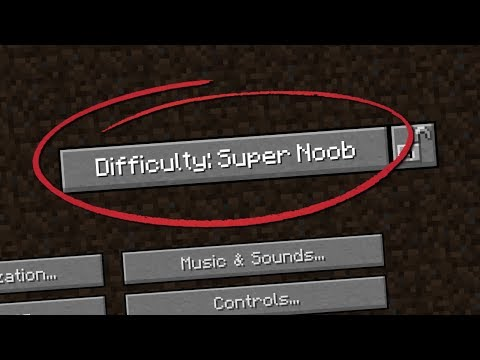 New Difficulty Added: SUPER NOOB - Minecraft