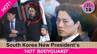 Video 'Stunningly Handsome' Bodyguard steals limelight from South Korea's new president download MP3, 3GP, MP4, WEBM, AVI, FLV Mei 2018