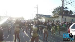 "Alabama State Marching Band & Sensational Stingettes ""Ex-Factor"" @ Bacchus Parade (2017)"