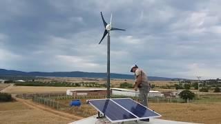240 Watt Güneş Enerjisi ve İstabreeze 500 Watt Rüzgar Türbini ile Bağ Evi Elektrik - Ekonomik Solar